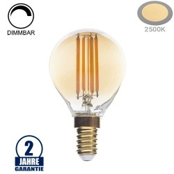 4W LED Vintage E14 G45 Birne Gold Glas Warmweiß 2500K Dimmbar