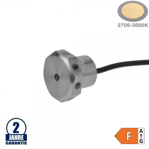 1,2W LED Unterwasser-Dekoeinbauleuchte 24V IP68 Warmweiß