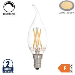 4W LED Vintage E14 C35 Windstoßkerze Glas Warmweiß Dimmbar