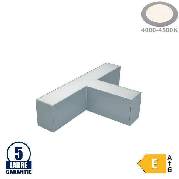 12W T-Verbinder für Linearleuchte Slim Professional Silber Neutralweiß 5381