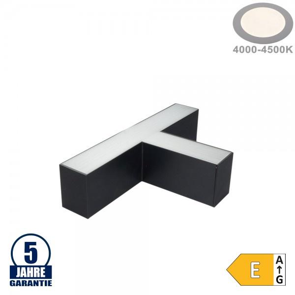 12W T-Verbinder für Linearleuchte Slim Professional Schwarz Neutralweiß 5380