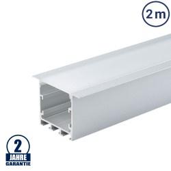 LED Profil PDS5 Decken Einbau eloxiert 2m SET