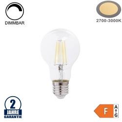 8W LED FILAMENT E27 A60 Birne Glas 810 Lumen Warmweiß Dimmbar