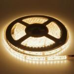 120SMD/m 9,6W/m 12V Professional LED Streifen 1808 Warmweiß Spritzwassergeschützt 5m