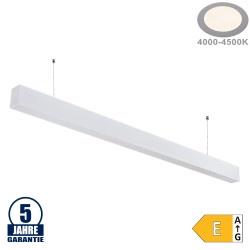 40W LED Linearleuchte Slim Professional mit Abhängung Weiß Neutralweiß