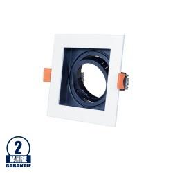 Einbaurahmen für LED GU10 Quadratisch inkl. Fassung Weiß/Schwarz