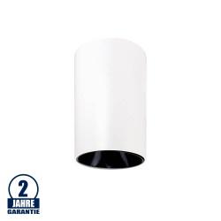 Deckenstrahler GU10 Rund Weiß mit schwarzem Reflektor