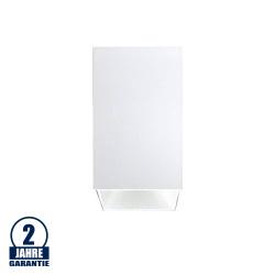 Deckenstrahler GU10 Quader Weiß mit weißem Reflektor