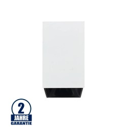 Deckenstrahler GU10 Quader Weiß mit schwarzem Reflektor