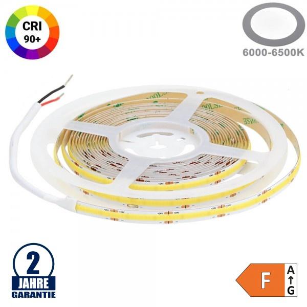 512SMD/m 12W/m 24V COB LED Streifen CRI90+ Kaltweiß 5m