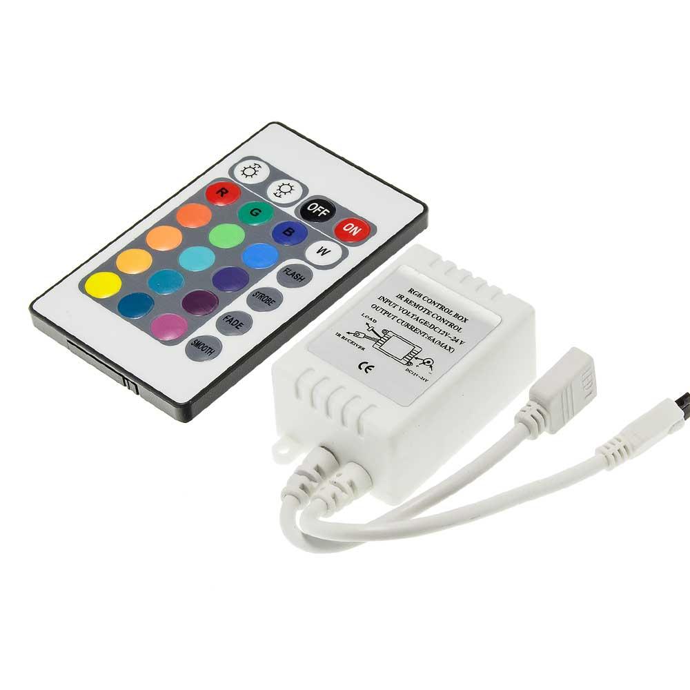 RGB Infrarot Controller 72W/12V 144W/24V 6A 24 Knöpfe