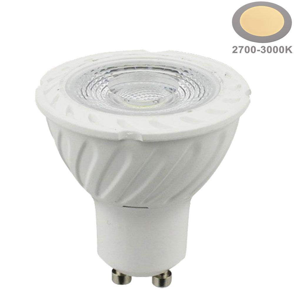 7W LED COB GU10 Spot Keramik Warmweiß